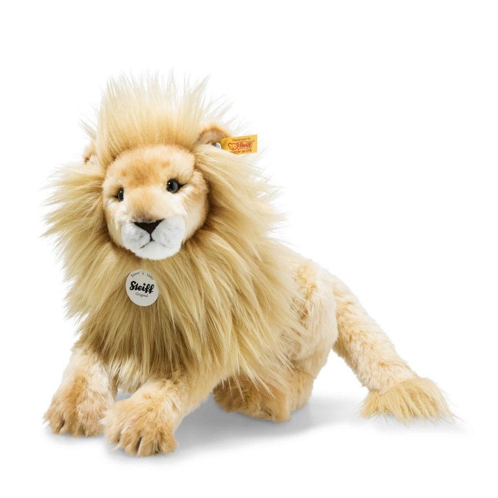 Steiff 065637 Timba Lion Plush Animal Toy White